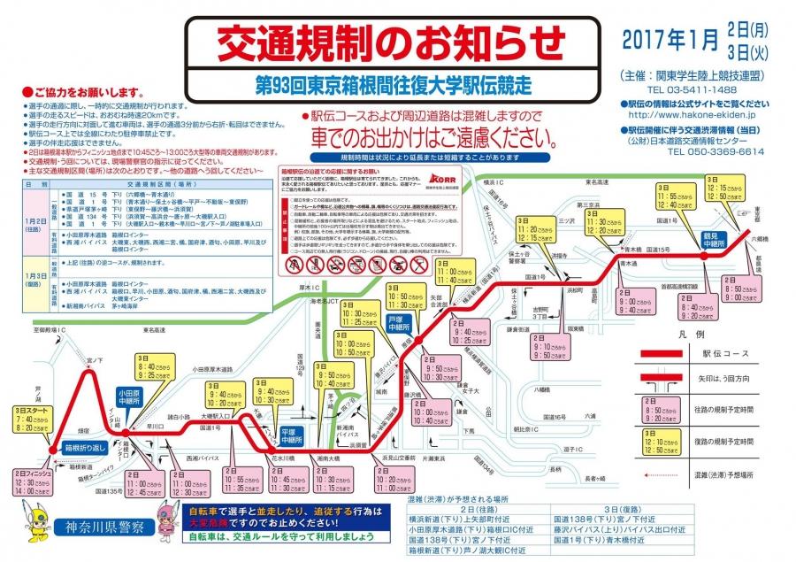 第93回東京箱根間往復大学駅伝競...